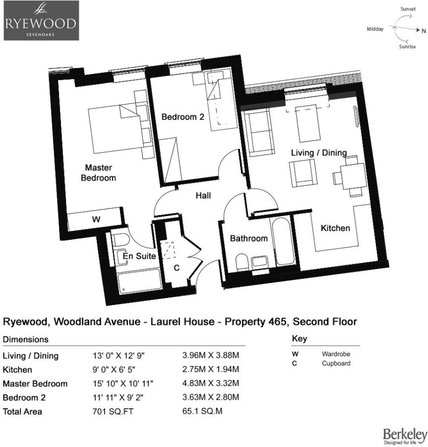 2 Bedroom Apartment For Sale In Yarnold Court Ryewood Dunton Green