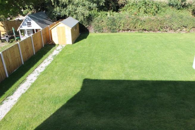 Plot 1 Garden Arial image