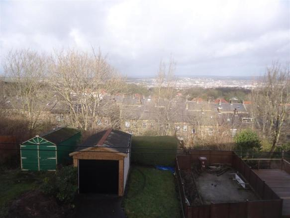 Rear Garden with Garage