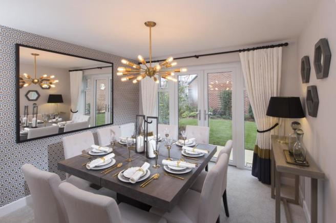 Separate dining room with French door onto the garden