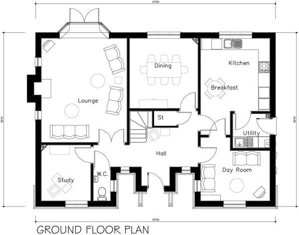 4583-PD12-03A Plot 12 Housetype Ground floor plan.