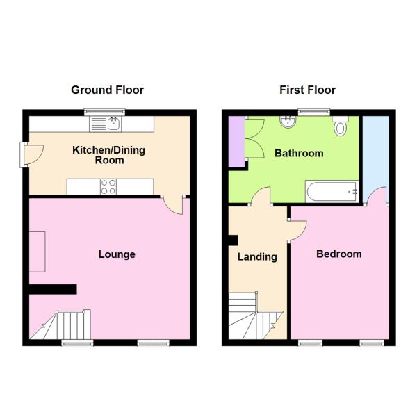 Cottage 2B- Property Floorplan