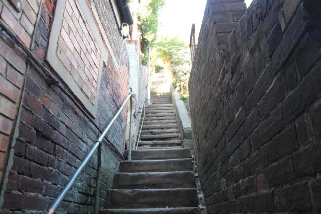 100 steps leading to the West Hill with panoramic