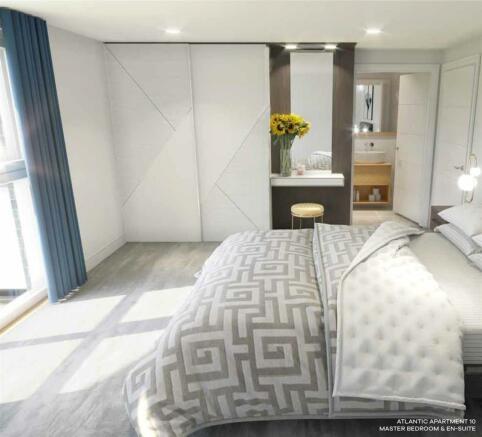Atlantic Apartment 10 Master Bedroom & En Suite.jp