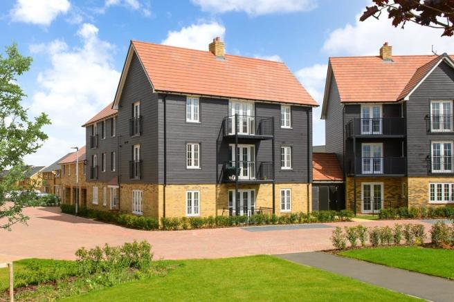 External image of the Ambersham Apartments overlooking green open space