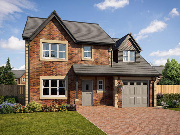 External CGI image of 4-bedroom Gosforth