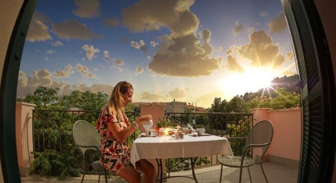 terrace in the sun