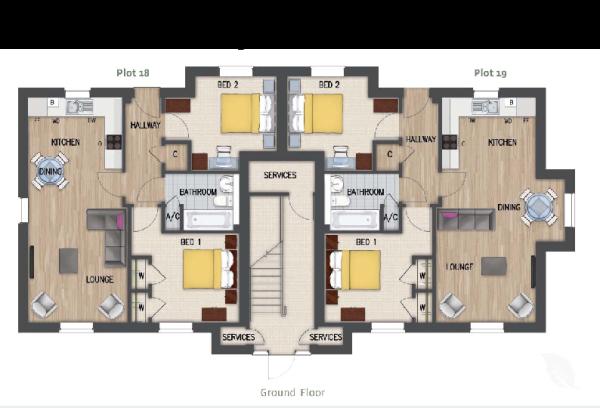 P18 & 19 Floor plans