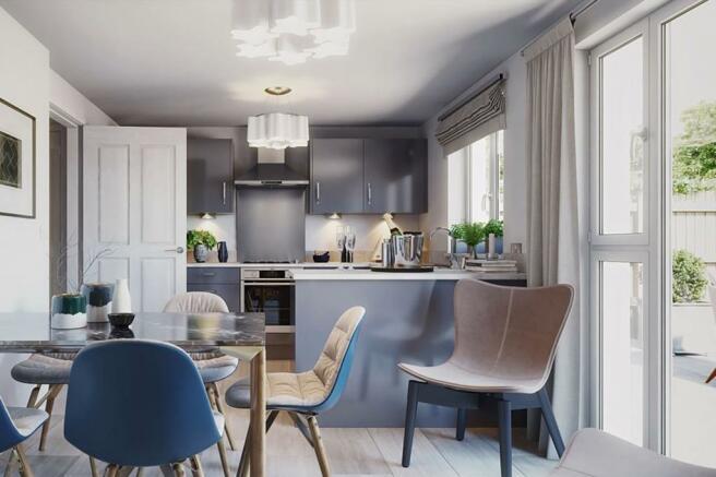 traquair kitchen CGI
