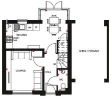 Downstairs layout of the Lockton