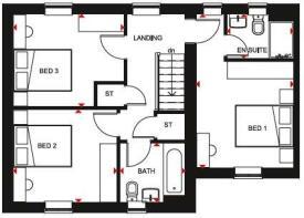 Upstairs layout of the Lockton