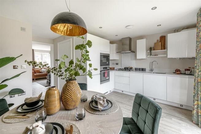 Sociable open plan kitchen/dining area