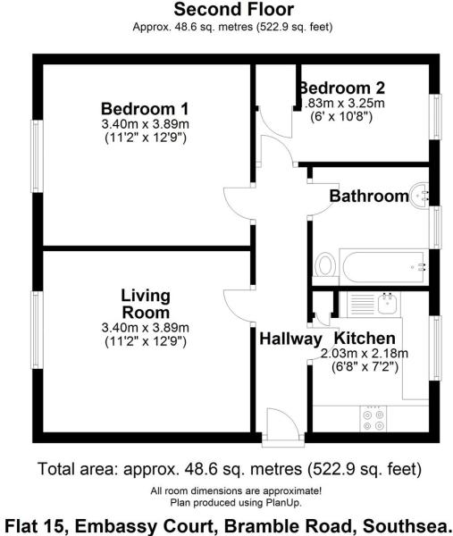 Floor plan Flat 15 Embassy Court PO4 0DS (002).JPG