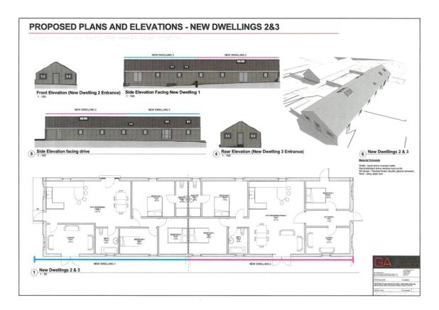 Plan - Barns 2 and 3