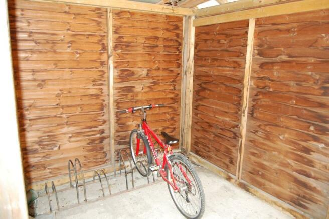 Communal bike shed