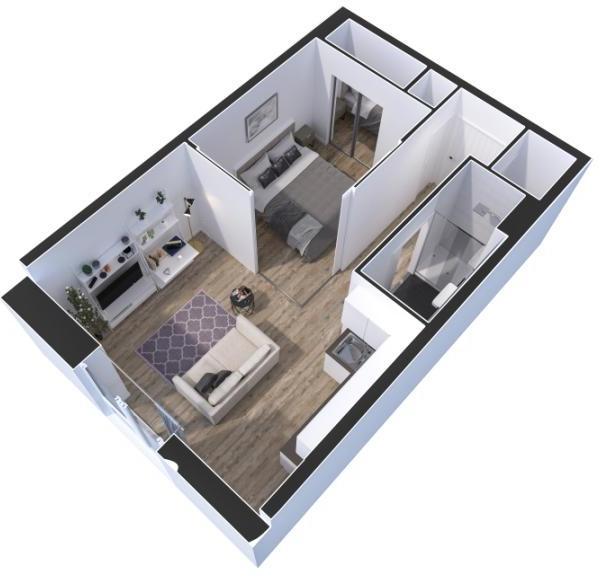 Studio / 1 Bed Plan