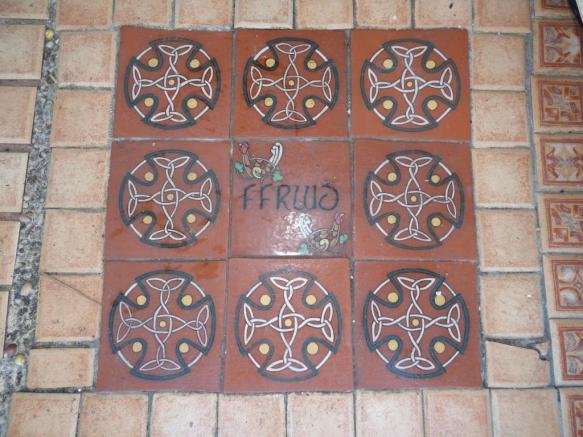 Porch floor tiles