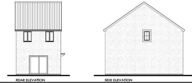 Rear & Side Elevatio
