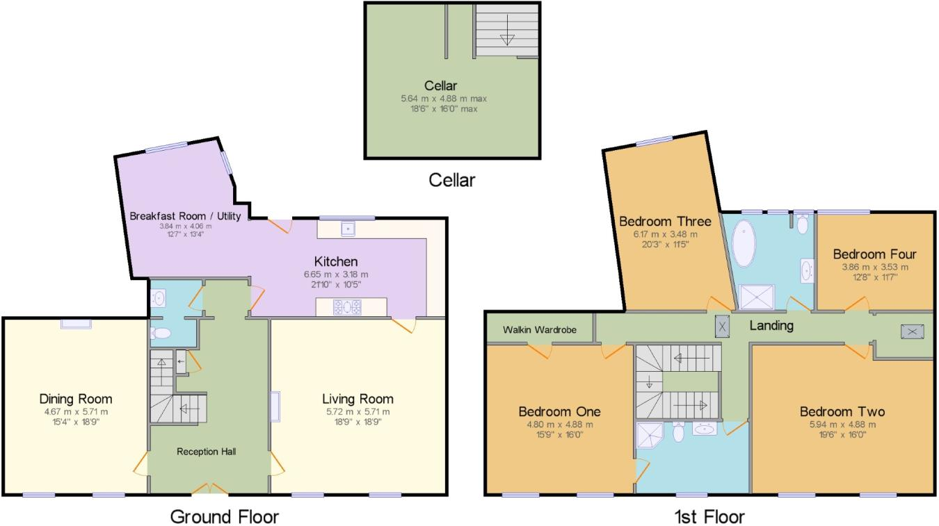 4 bedroom terraced house for sale in Ferney, Dursley ...