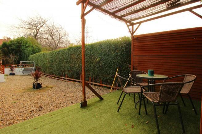 Patio rear garden.