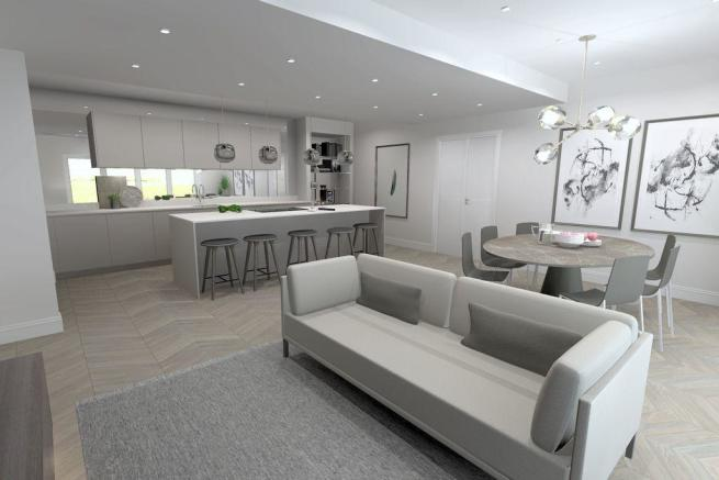 Open Plan Kitchen/Dining/Family Room