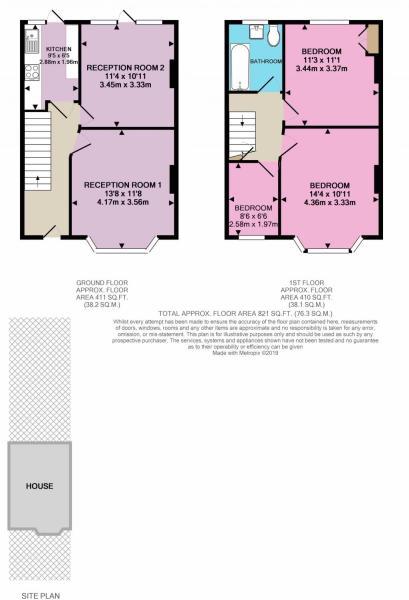 Floorplan with plot/garden shown