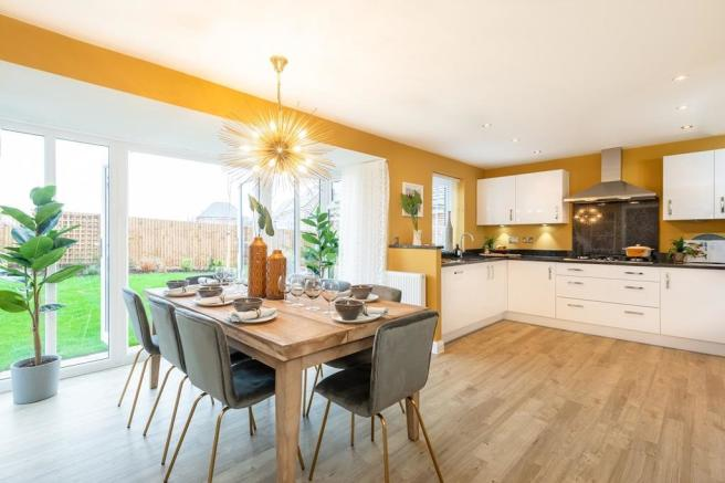 Holden open-plan kitchen with dining/family areas and French doors onto the garden