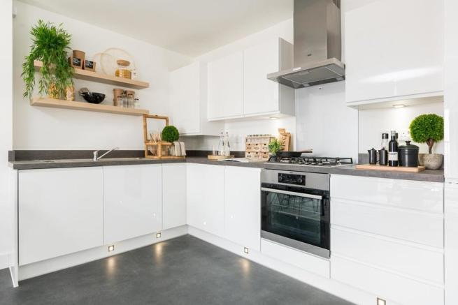 A modern easy to clean kitchen