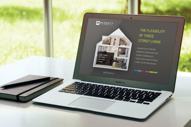 Desktop display of interactive dolls house