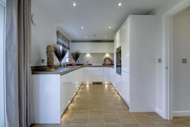 3 sided kitchen with lots of storage