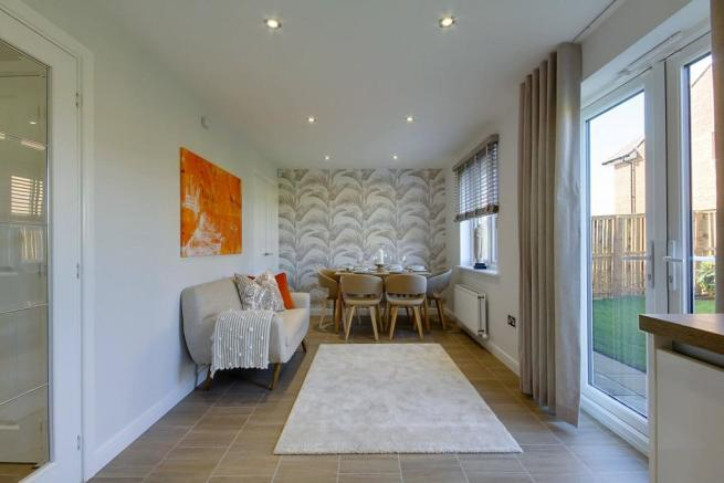 Enjoy the space to relax and eat in the open plan kitchen diner