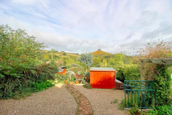 Garden with views to Colmers Hill