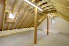 Garage (upper floor) with planning to convert