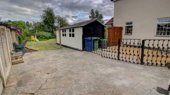 Rear Patio, Garage & Lawn