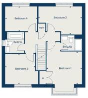 First floor floorplan of The Canterbury at Potters Field floor floorplan of The Canterbury at Potter