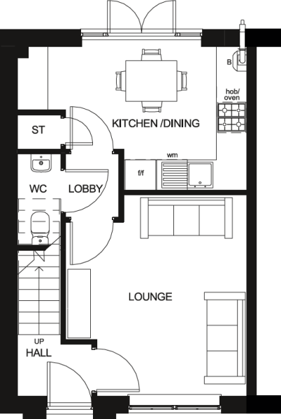 Roseberry Ground Floor Floor Plan
