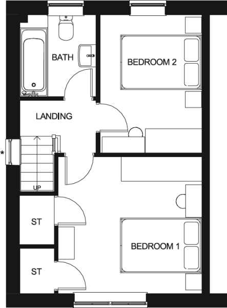 Roseberry First Floor Floor Plan