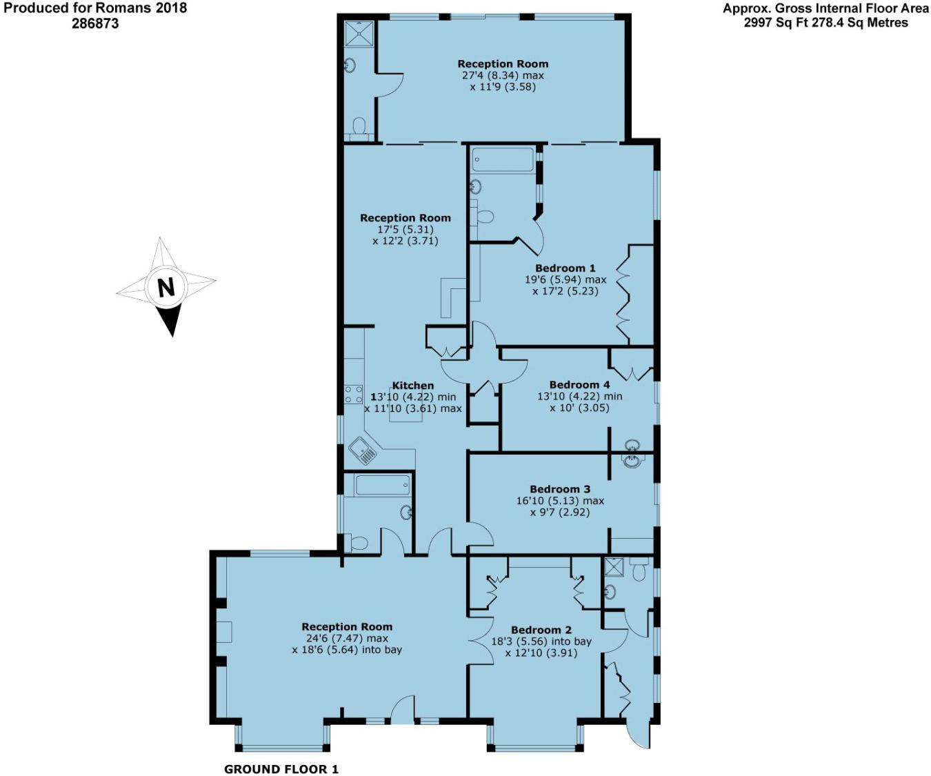 4 bedroom bungalow for sale in Wargrave Road, Henley-on-Thames ...