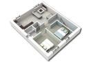 First floor plan 3D