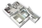 Ground floor plan 3D