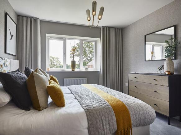 Stylish second double bedroom