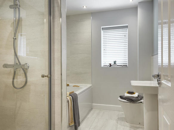 Family bathroom with a separate shower