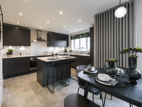 Choice of luxury kitchen with integrated appliances
