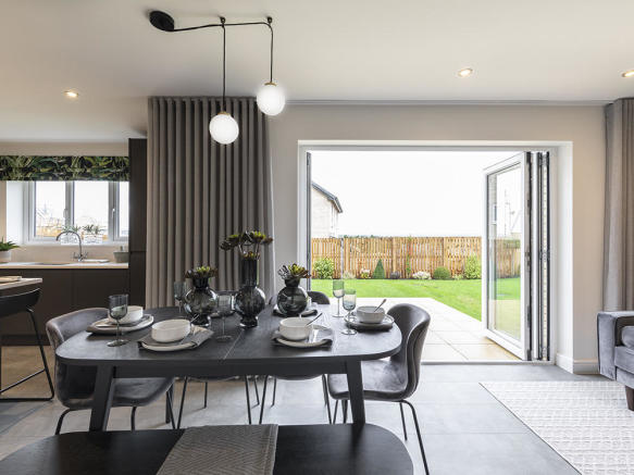 Large family area with bi fold doors to the garden