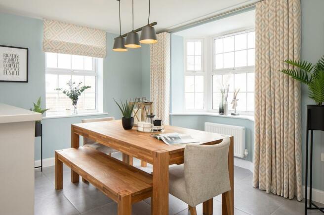 Dining area in 4 bed Avondale at Kilners Grange