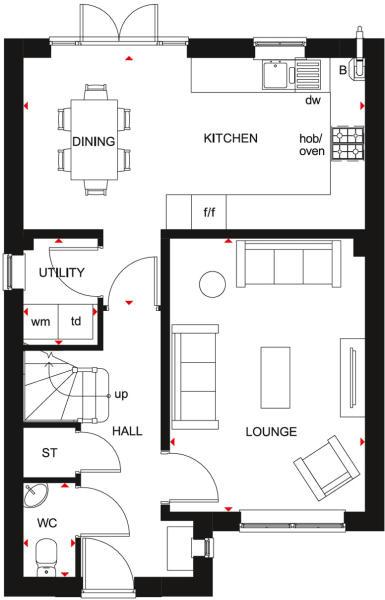 Kingsley Ground Floor Plan