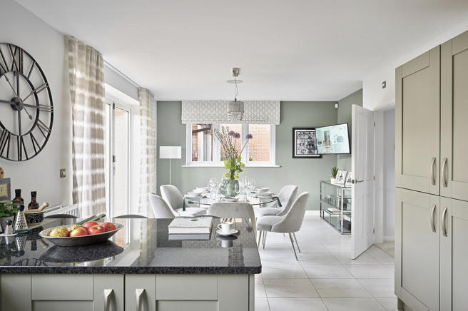 2. Typical Kitchen and Dining Area