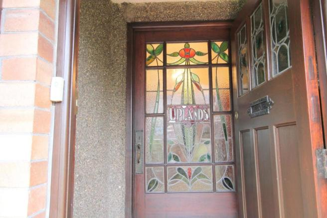 Feature Stained Glass Door