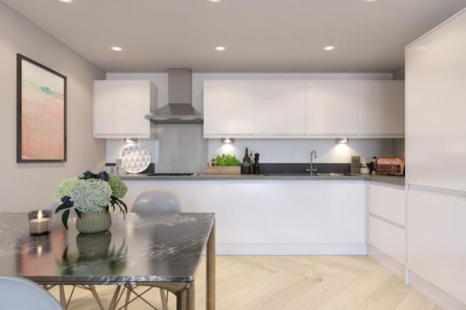 A typical interior view of our kitchens at Berrington Place