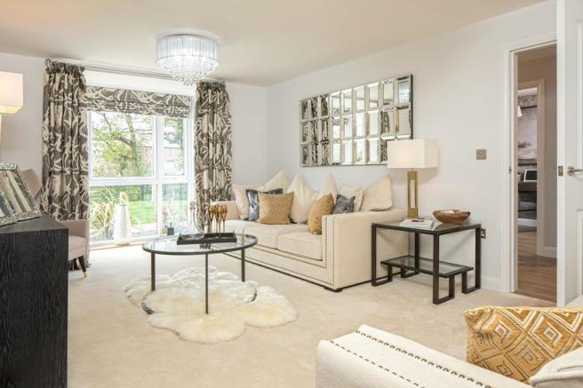 Internal view Holden 4 bedroom detached home lounge with bay window